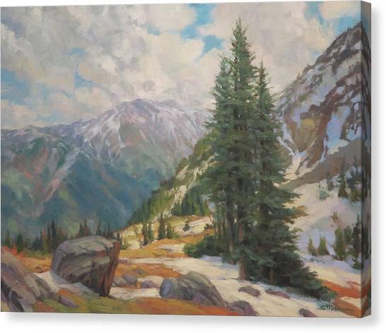 Cowboy Canvas Print - Alpine Spring  by Steve Henderson