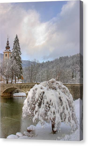 Alpine Winter Beauty Canvas Print