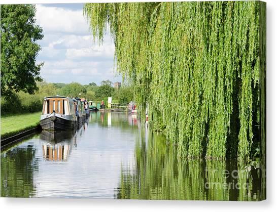 Stamford Bridge Canvas Print - Alrewas Canal Scene by Steev Stamford