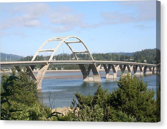 Alsea Bridge Br 7002 Canvas Print by Mary Gaines
