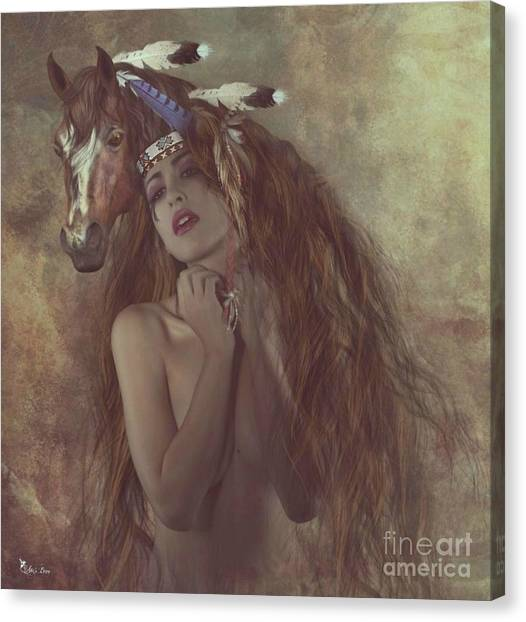 Alsoomse And Her War Horse Canvas Print