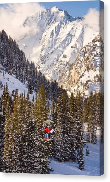 Wasatch Mountains Canvas Print - Alta Ski Resort Wasatch Mts Utah by Utah Images