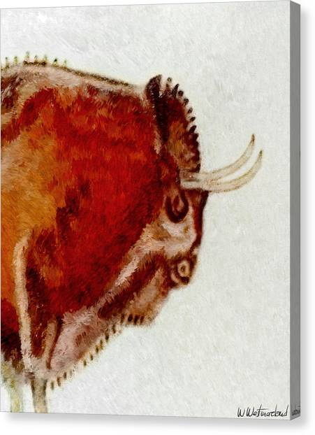 Altamira Prehistoric Bison Detail Canvas Print