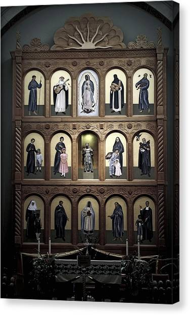 Altar Screen Cathedral Basilica Of St Francis Of Assisi Santa Fe Nm Canvas Print