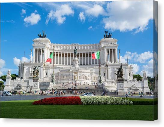 Roman Art Canvas Print - Altare Della Patria-3344 by Alex Ursache
