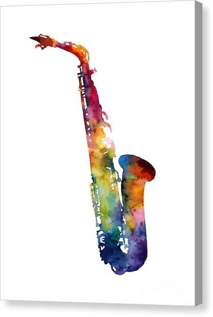 Brass Canvas Print - Alto Sax by Hailey E Herrera