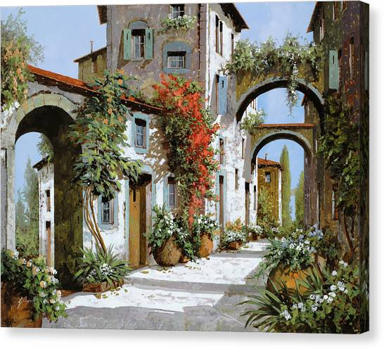 Scene Canvas Print - Altri Archi by Guido Borelli