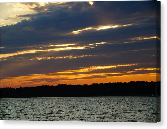 Alum Creek Sunset Canvas Print