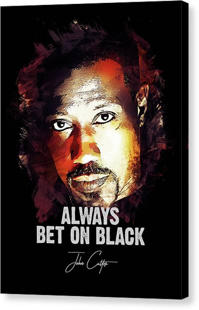 Celebrities Canvas Print - Always Bet On Black - Passenger 57 by Dusan Naumovski