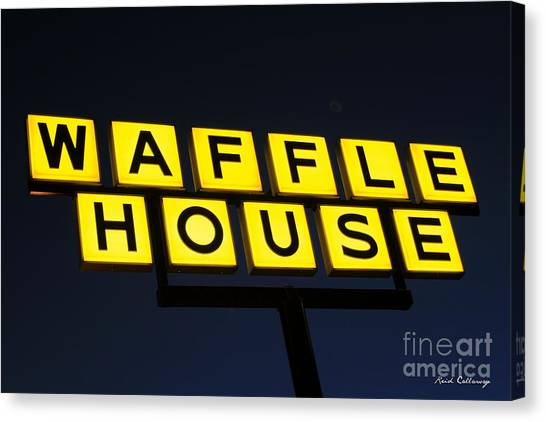 Always Open Waffle House Classic Signage Art  Canvas Print