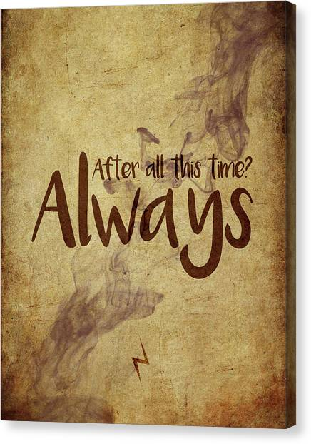 Harry Potter Canvas Print - Always by Samuel Whitton