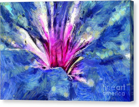 Abstract Lily Canvas Print - Always Seeking by Krissy Katsimbras