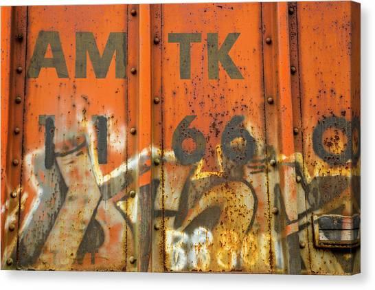 Amtrak Canvas Print - Am Tk by Karol Livote