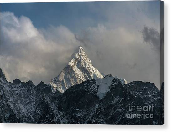 K2 Canvas Print - Ama Dablam From Kalla Patthar by Mike Reid
