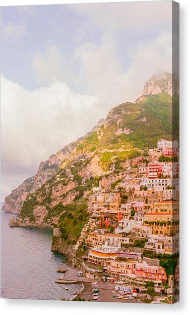 Coasts Canvas Print - Amalfi Coast Italy 2 by Ariane Moshayedi