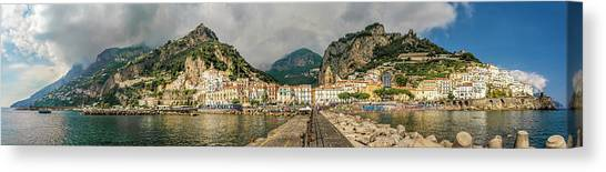 Canvas Print featuring the photograph Amalfi by Steven Sparks