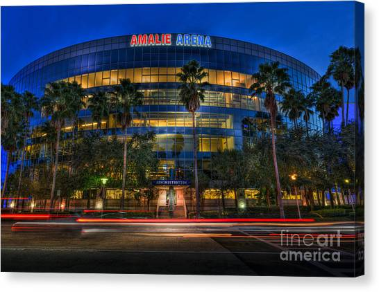 Hockey Teams Canvas Print - Amalie Arena 2 by Marvin Spates