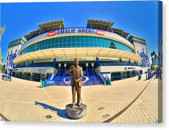 Tampa Bay Lightning Canvas Print - Amalie Arena by Lisa Wooten
