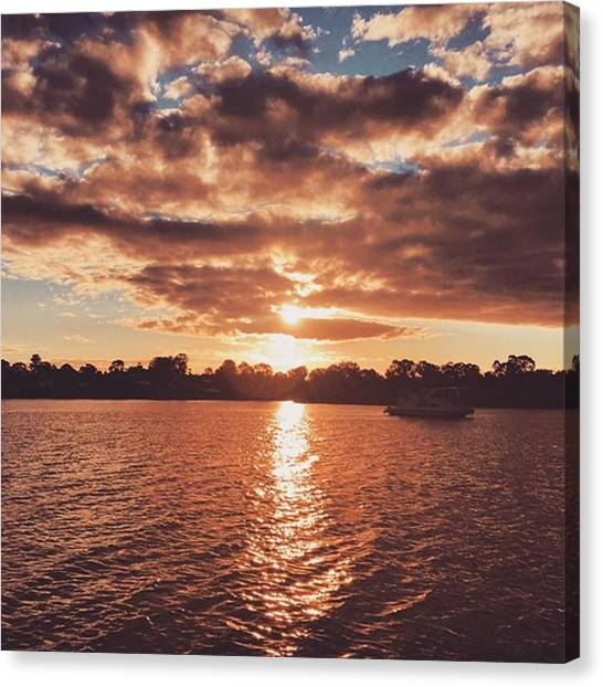 Everglades Canvas Print - #amanphotog #sunset #clouds #water by Aman Singh