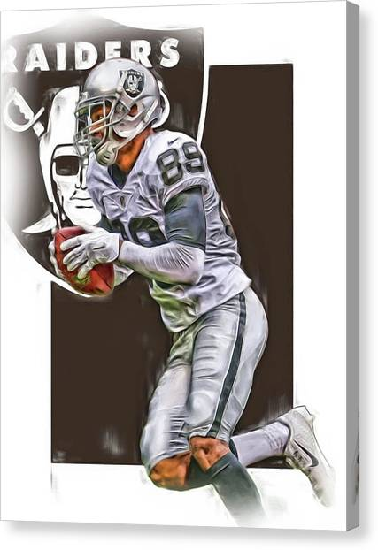 Oakland Raiders Canvas Print - Amari Cooper Oakland Raiders Oil Art by Joe Hamilton