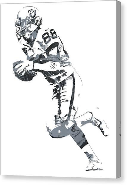 Oakland Raiders Canvas Print - Amari Cooper Oakland Raiders Pixel Art 12 by Joe Hamilton