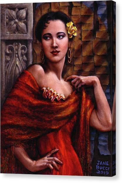 Amarillo Rose Canvas Print