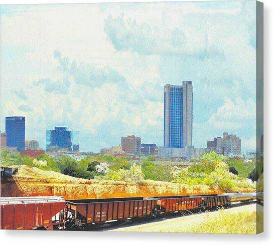 Amarillo Texas In The Spring Canvas Print