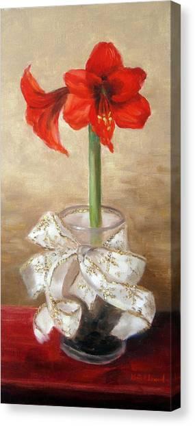 Amaryllis Canvas Print - Amaryllis by Karin  Leonard