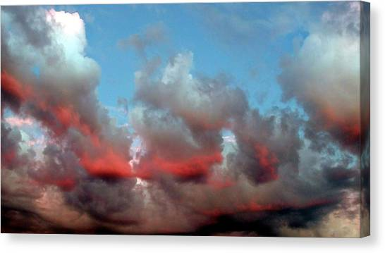 Imaginary Real Clouds  Canvas Print