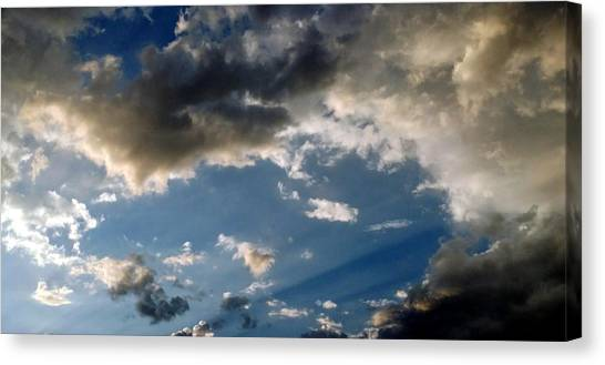 Amazing Sky Photo Canvas Print