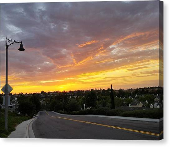 Colorful Sunset In Mission Viejo Canvas Print