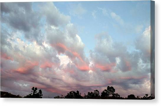 Amazing Clouds At Dusk Canvas Print