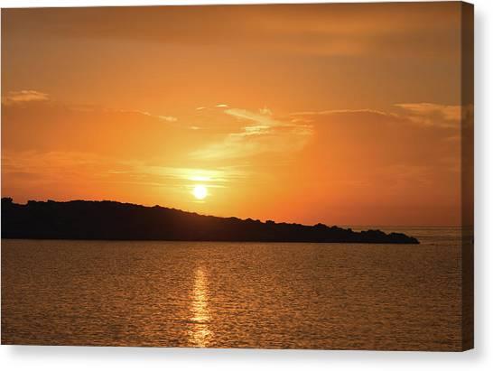 Dawn In Ibiza, Spain Canvas Print