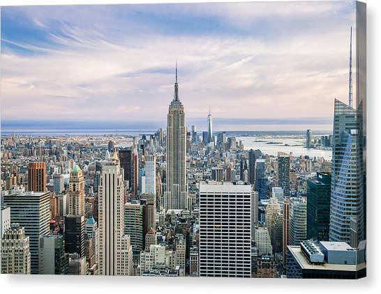 New York Skyline Canvas Print - Amazing Manhattan by Az Jackson