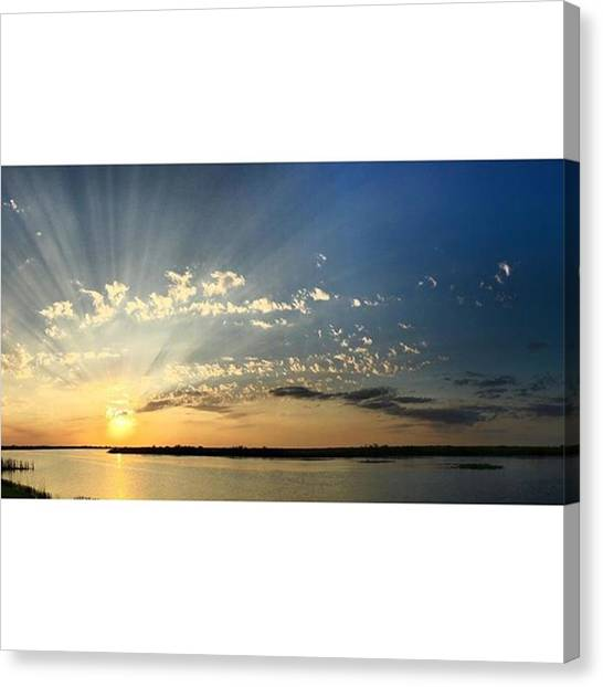 Everglades Canvas Print - Amazing Night For A Walk!  #bliss by Erin Ryan