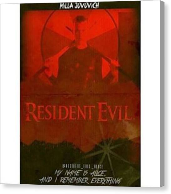 Canvas Print - Amazing Resident Evil Edit! 😍 Credit by Resident Evil