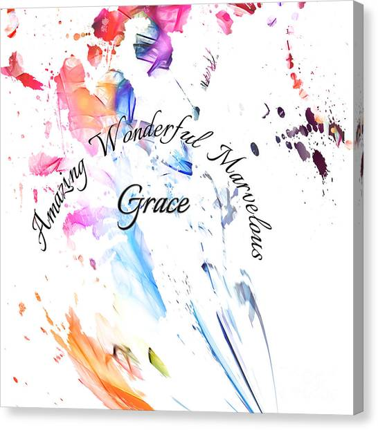 Amazing Wonderful Marvelous Grace Canvas Print