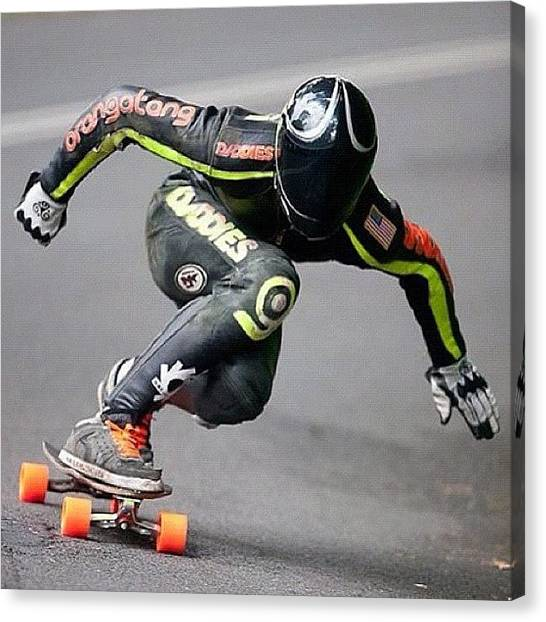 Swedish Canvas Print - Amazingly Good Pic By @thane_central ! by Sweden Longboards