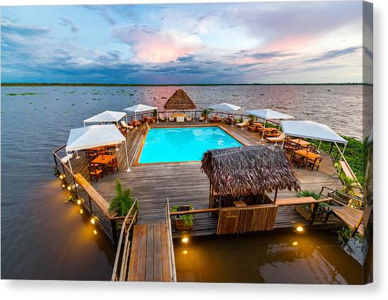 Amazon River Canvas Print - Amazon Swimming Pool by Jess Kraft