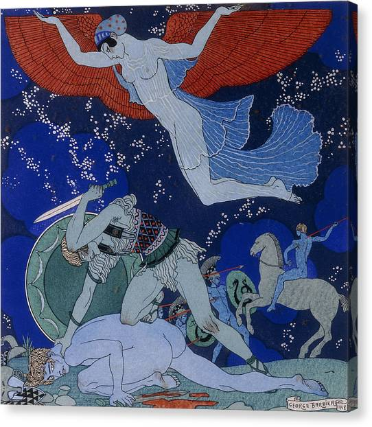 Amazon Canvas Print - Amazons by Georges Barbier