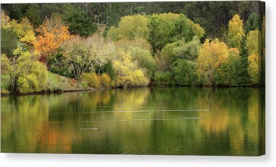 Amber Days Of Autumn Canvas Print