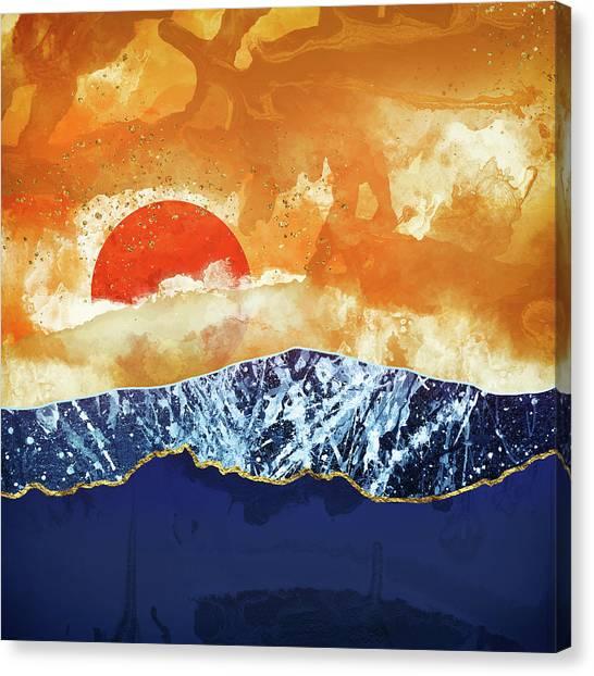 Landscape Canvas Print - Amber Dusk by Katherine Smit