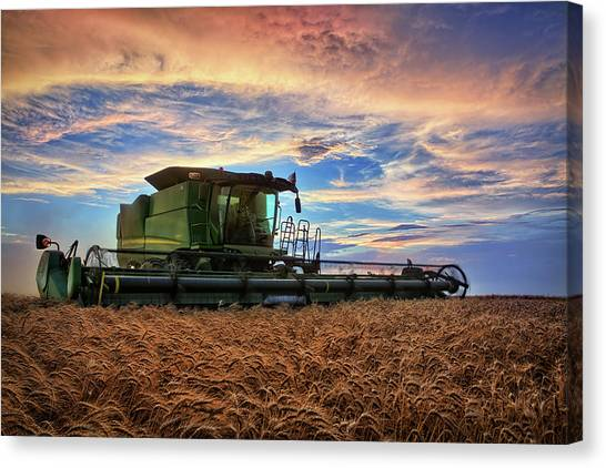 John Deere Canvas Print - Amber Waves by Thomas Zimmerman