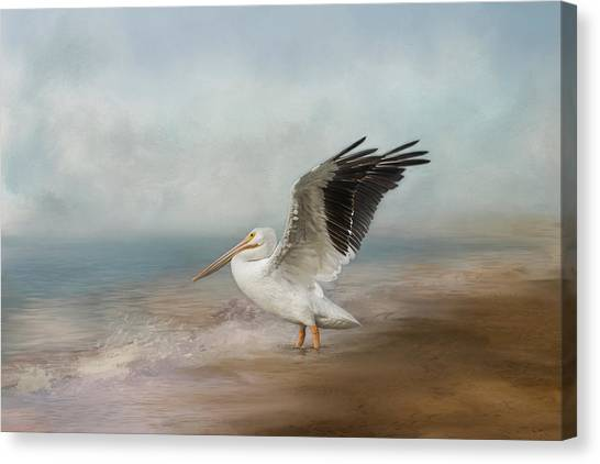Canvas Print featuring the photograph Amble Along The Shore by Kim Hojnacki