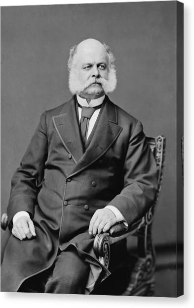 Us Civil War Canvas Print - Ambrose Burnside And His Sideburns by War Is Hell Store