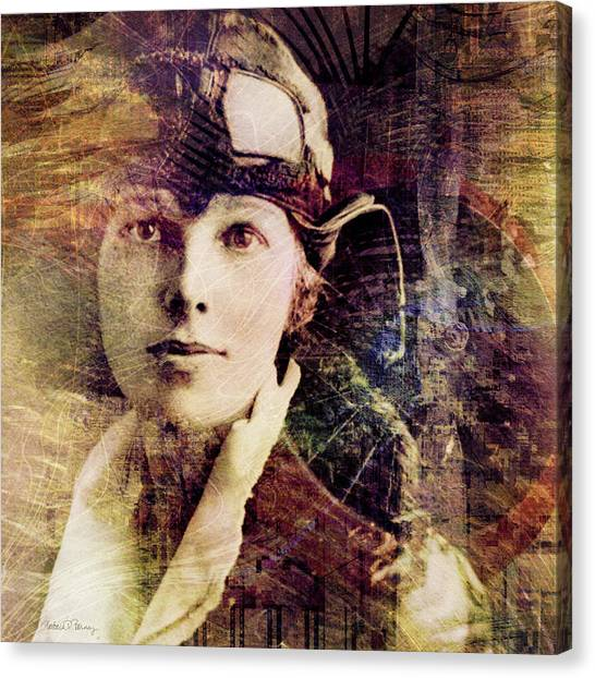 Pilots Canvas Print - Amelia by Barbara Berney