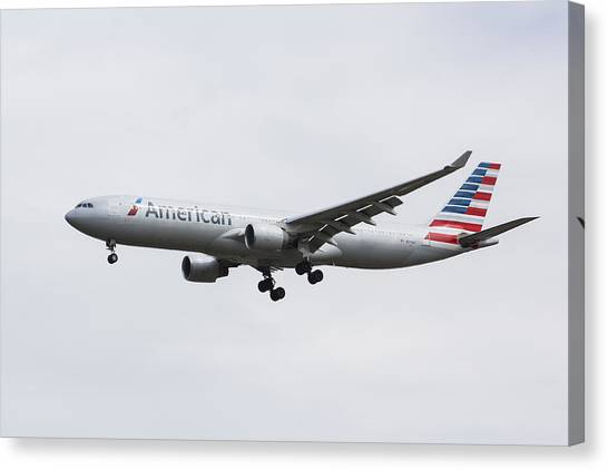 American Airlines Airbus A330 Canvas Print
