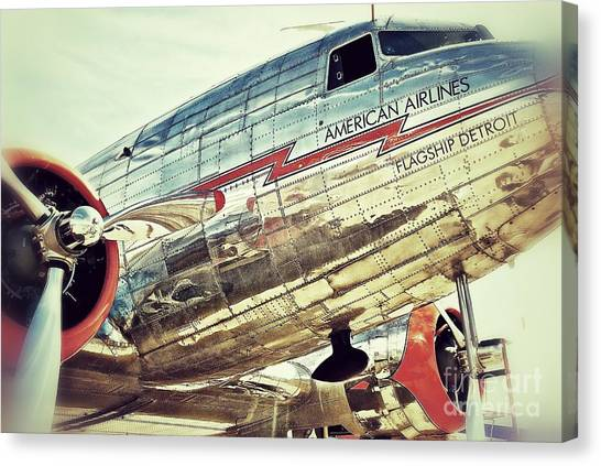 Prop Planes Canvas Print - American Airlines by AK Photography