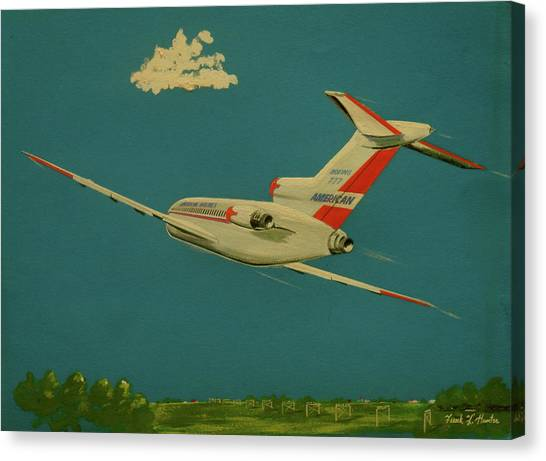 American Airlines Boeing 727 Canvas Print