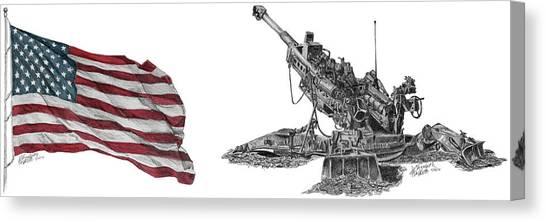 American Artillery Canvas Print
